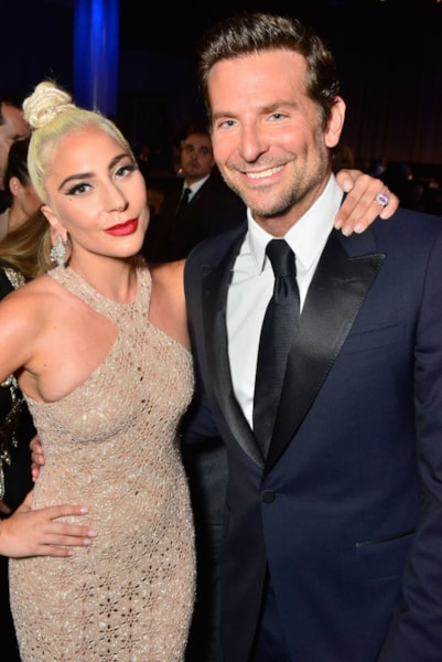 """After collaborating on the Oscar-winning film """"A Star Is Born,"""" Gaga revealed what she learned from Bradley Cooper to """"Entertainment Weekly.  """"I think what I learned from Bradley [is] it's okay to be relentlessly sure of your vision, and to go after it with every fiber of your being, and to never stop white gloving what you're making. Sometimes, as an artist, I second-guess myself when I go, 'Am I pulling the thread? Am I unraveling the whole blanket now? Do I need to stop?' It's changed the way that I work today.""""  (Photo by Jerod Harris/Getty Images for American Cinematheque)"""