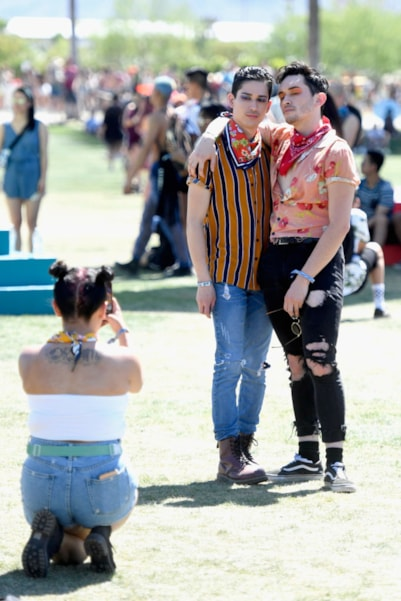 INDIO, CA - APRIL 13:  Festivalgoers are seen during the 2019 Coachella Valley Music And Arts Festival on April 13, 2019 in Indio, California.  (Photo by Frazer Harrison/Getty Images for Coachella)