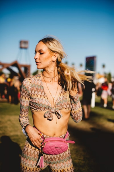INDIO, CALIFORNIA - APRIL 14: Festivalgoer street style at The 2019 Coachella Valley Music And Arts Festival - Weekend 1 on April 14, 2019 in Indio, California. (Photo by Matt Winkelmeyer/Getty Images for Coachella)