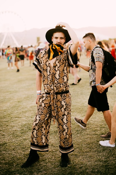 Festivalgoer street style at The 2019 Coachella Valley Music And Arts Festival - Weekend 1 on April 14, 2019 in Indio, California. (Photo by Matt Winkelmeyer/Getty Images for Coachella)